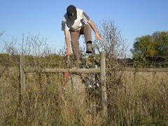 pulando a cerca